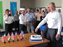 MPE 90th Anniversary cake cutting in June 2015
