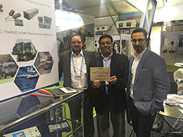 Strongfield stand at DefExpo2