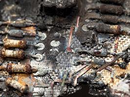 burnt pcb