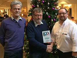 mpe top distributor award presented to norshield